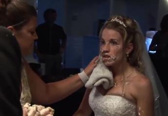Αυτή η νύφη δεν θα ξεχάσει ποτέ το κόψιμο της γαμήλιας τούρτας της [βίντεο] - Κεντρική Εικόνα