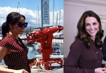 Meghan & Kate φόρεσαν και οι δυο παρόμοια πουά φορέματα [εικόνες] - Κεντρική Εικόνα