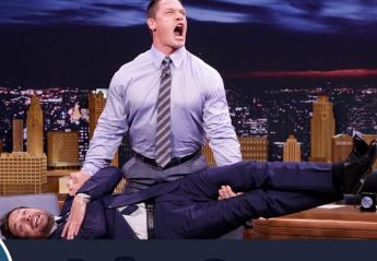 O John Cena κάνει άρση βαρών με το σώμα του Jimmy Fallon [βίντεο] - Κεντρική Εικόνα