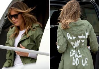 Νέος χαμός στο twitter για αυτό το σακάκι της Melania - Είπε ψέμα η Πρώτη Κυρία; - Κεντρική Εικόνα