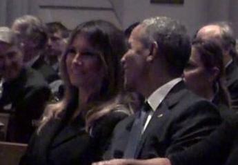 O Obama έκανε την Melania να γελάσει και όλοι κάνουν το ίδιο πικρόχολο σχόλιο - Κεντρική Εικόνα