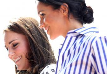 Πουά και ριγέ φόρεσαν οι Kate και Meghan στο Wimbledon [εικόνες] - Κεντρική Εικόνα