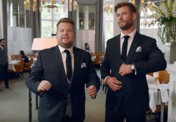 Ποιος είναι ο καλύτερος σερβιτόρος; Ο Chris Hemsworth ή ο James Corden; [βίντεο] - Κεντρική Εικόνα