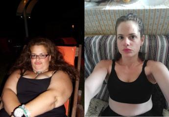 Viral έγινε η μεταμόρφωση μιας νεαρής από τη Χαλκίδα - Έχασε 78 κιλά  - Κεντρική Εικόνα