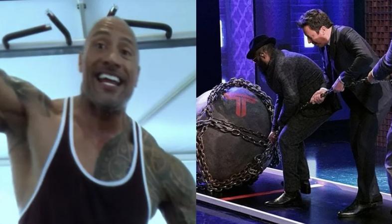 O The Rock προκάλεσε τον Jimmy Fallon να κάνει κάτι πολύ δύσκολο [βίντεο] - Κεντρική Εικόνα