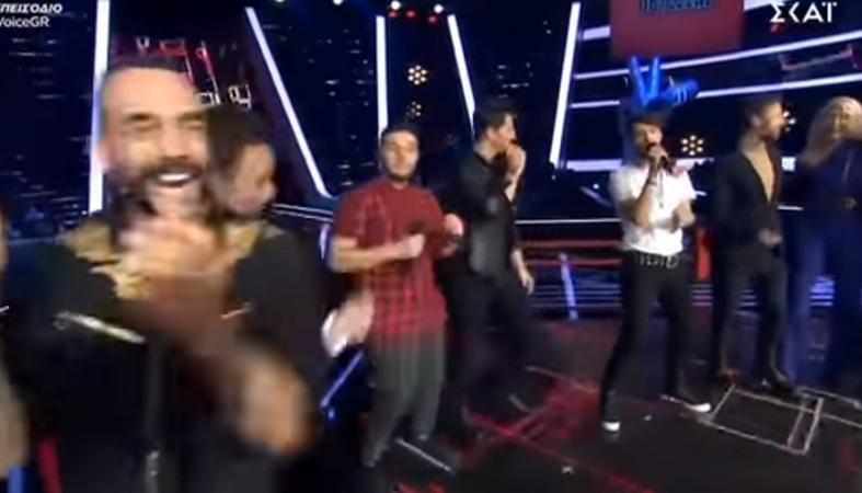 Χαμός έγινε χθες στη σκηνή του The Voice - Μετά το Battle στήθηκε... πάρτι [βίντεο] - Κεντρική Εικόνα