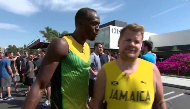 O Usain Bolt τρέχει 100άρι με τους James Corden και Owen Wilson [βίντεο] - Κεντρική Εικόνα